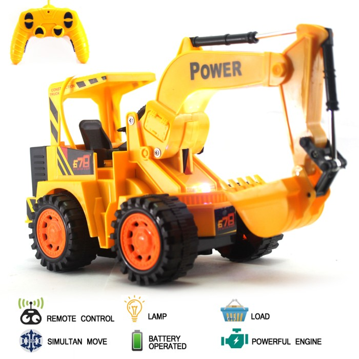 harga Mainan mobil remote control rc excavator cheetah truck Tokopedia.com