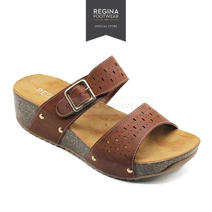 harga Regina sandal wedges wanita hak 5 cm 1704-008 coffee Tokopedia.com
