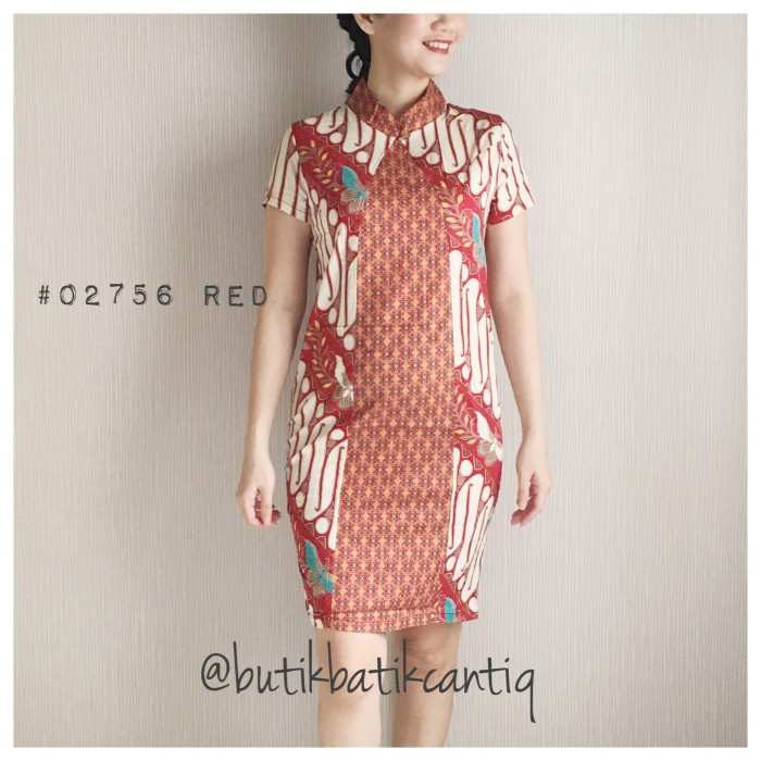harga Shanghai colar batik dress Tokopedia.com