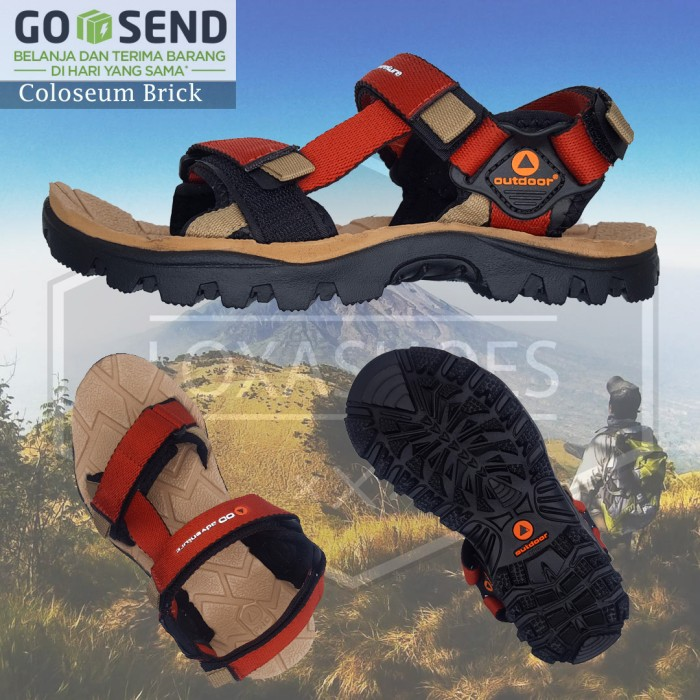 Sandal Gunung Outdoor Pro - Original - Sandal Hiking - Sandal Outdoor -  Coloseum Brick ccf4f5baa6