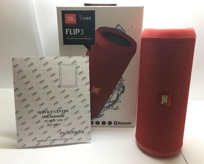 harga Jbl flip 3 merah original garansi resmi 1 tahun pt inti megah swara Tokopedia.com