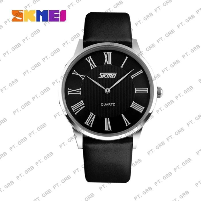 Jam Tangan Pria Analog SKMEI 9092 Black Black Water Resistant 30M