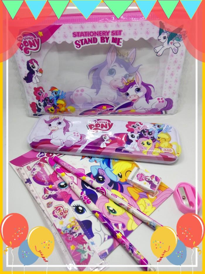 harga Set stationary alat tulis lengkap littlepony kantong dompet souvenir Tokopedia.com