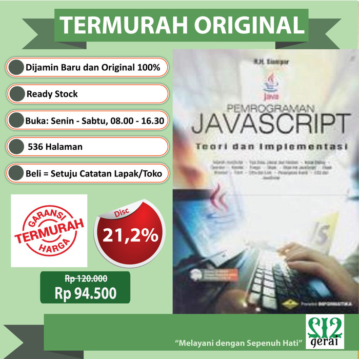 harga Termurah original buku pemrograman javascript+cd -edisi revisi terbaru Tokopedia.com