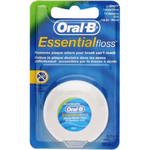 harga Oral-b essential waxed dental floss 50m Tokopedia.com