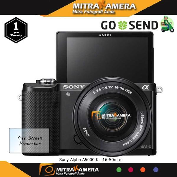 Kamera sony alpha a5000 kit 16-50mm f/3.5-5.6 oss.