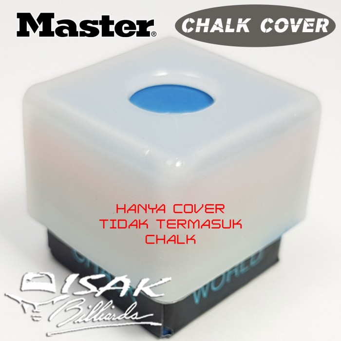 Master Square Pool Billiards Chalk Holders with Covers 2 Pack
