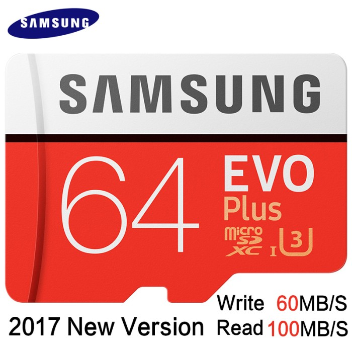 harga Samsung microsdxc evo plus 4k u3 c10 64gb r100mbps w60mbps noadapter Tokopedia.com