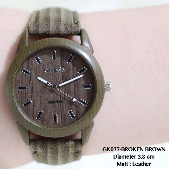 Jual Jam tangan guess wanita motif kulit wood termurah grosir fossil ... 9bbe7e0c8e