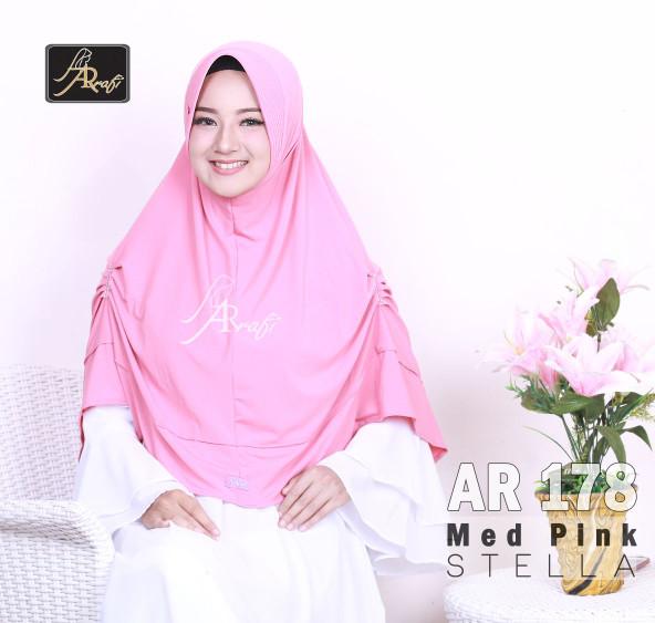 Hijab Ar Rafi AR 178 jilbab jumbo kerudung instan bergo khimar rumana