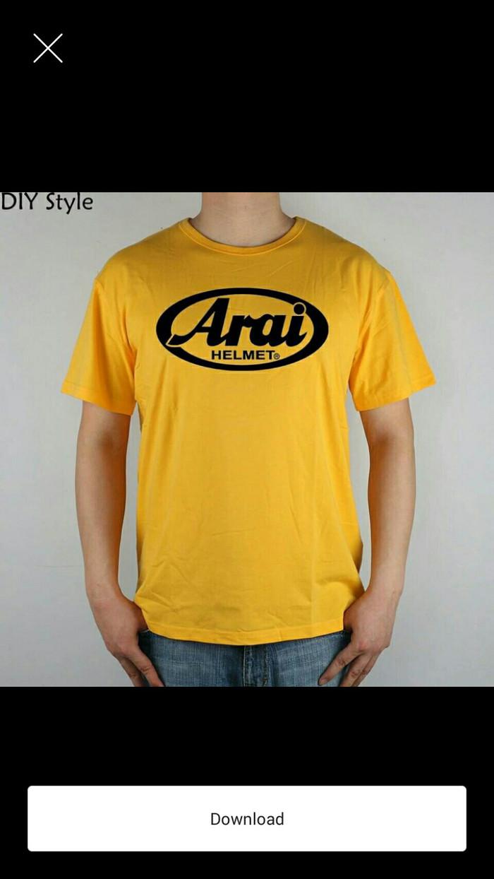 Jual Tshirt Baju Kaos ARAI HELMET Keren Kota Bekasi Adam Jordan