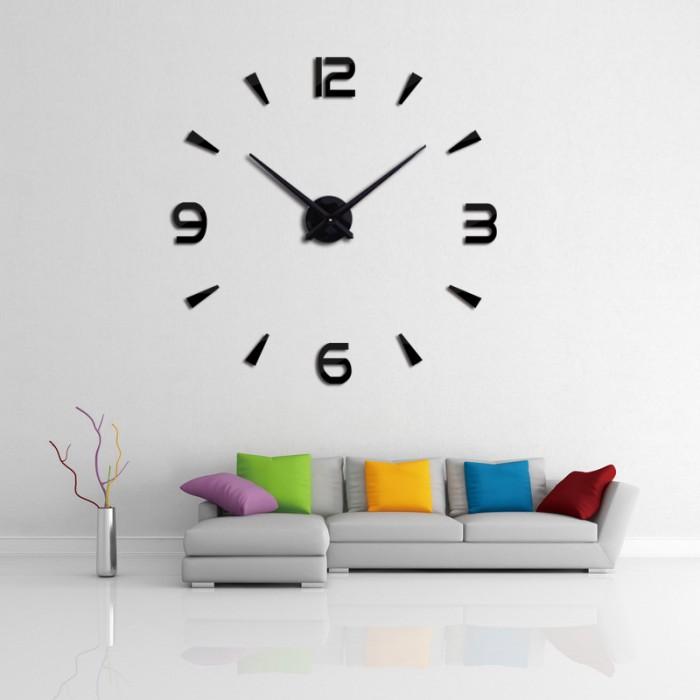 jual 3d giant wall clock | jam dinding keren jumbo 3d unik 80-130cm