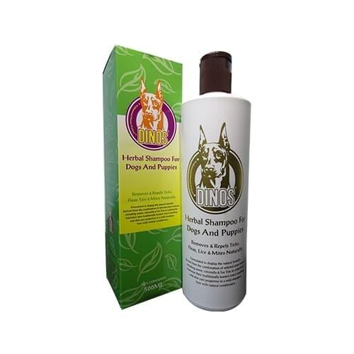 harga Shampoo kutu & iritasi anjing dinos herbal shampoo 500ml Tokopedia.com