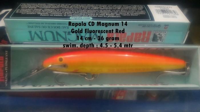 Memancing Rapala Daftar Harga Memancing Rapala Februari 2019 Source · Rapala Countdown Magnum CDMAG14 warna GFR