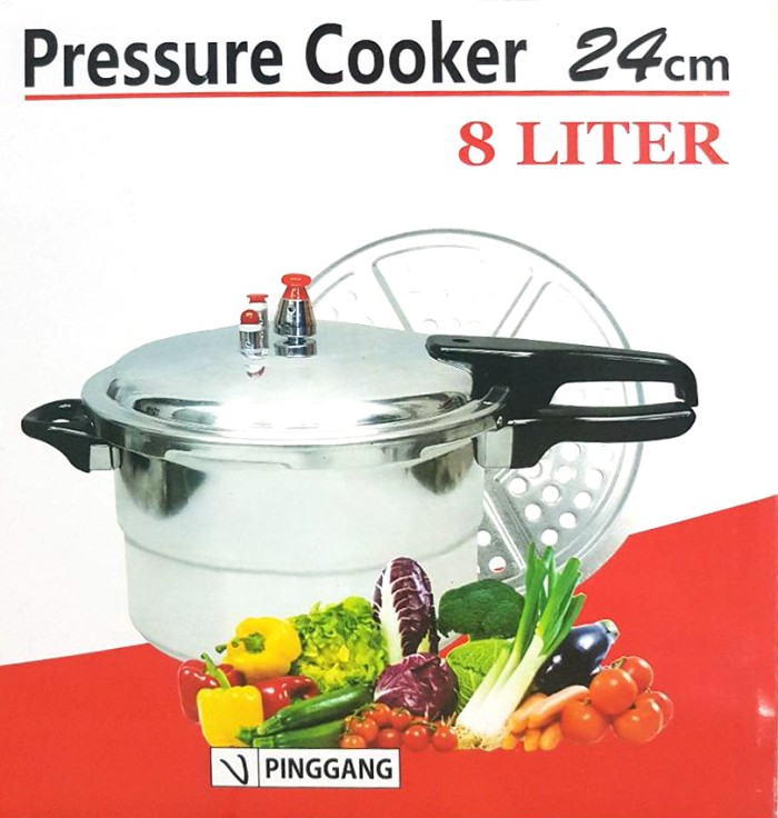harga Panci presto 8 liter + steamer / trisonic pressure cooker 24cm + kukus Tokopedia.