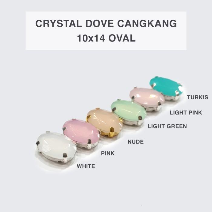 harga Kristal doff cangkang 10x14 oval @100pcs (mata jahit) Tokopedia.com