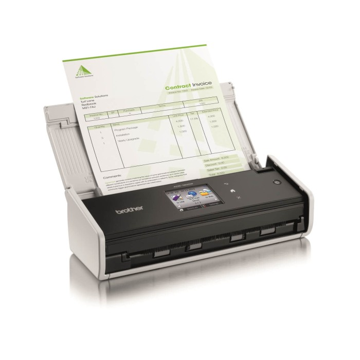 harga Brother ads-1600w portable document scanner + wireless Tokopedia.com