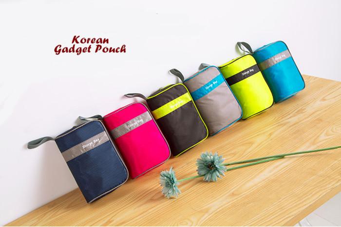 harga Korean Gadget Pouch (dompet Tempat Aksesoris Perlengkapan Handphone) Tokopedia.com