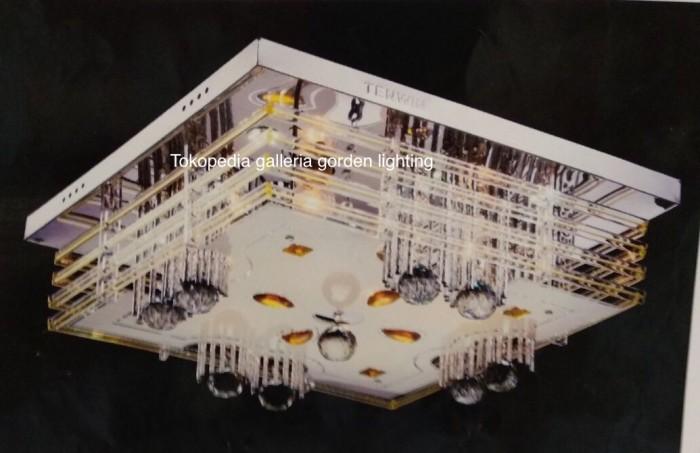 harga Lampu Hias Plavon Kristal Led Dekorasi Ruang Tamu 8872/50x50 Tokopedia.com