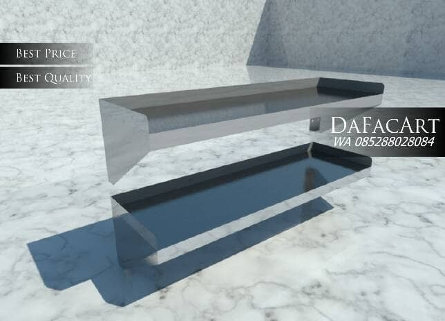 Jual Rak Dinding Dapur 2 Stainless Steel Double Wall Shelf Kitchen
