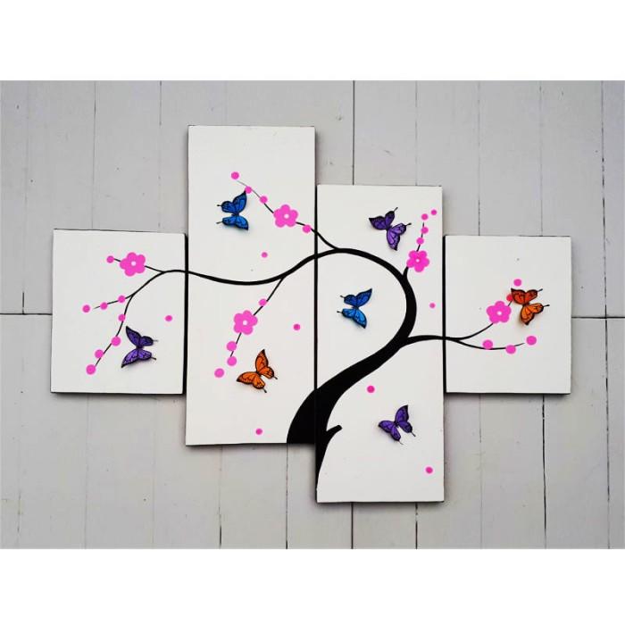 harga Hiasan dinding - lukisan 3d kupu - fly 2 Tokopedia.com