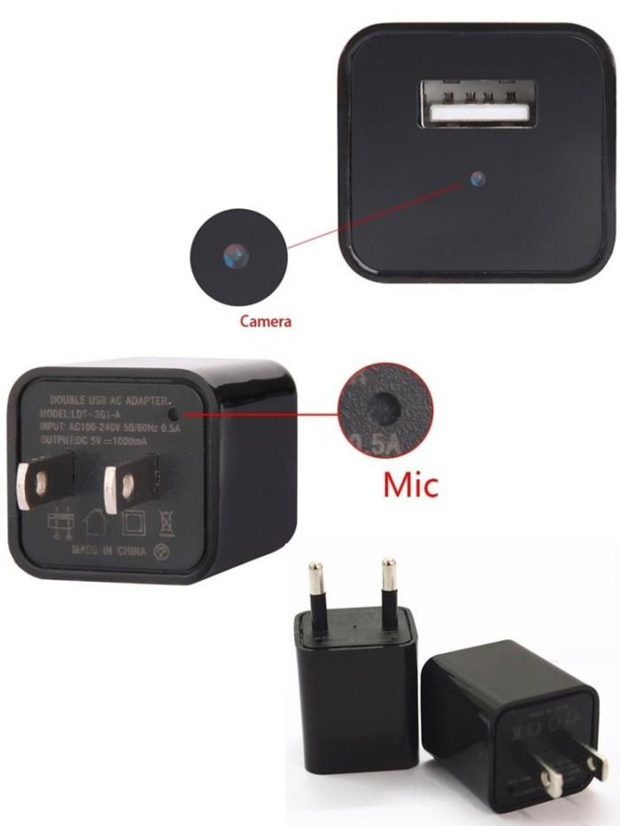 harga kamera mini 8gb spy camera bentuk usb charger adaptor spycam dvr 1080 Tokopedia.com