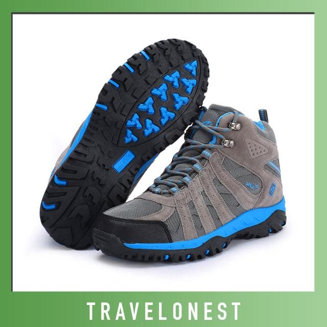 harga Sepatu Gunung Snta 476 Grey Blue | Hiking Trekking Outdoor Footwear Tokopedia.com