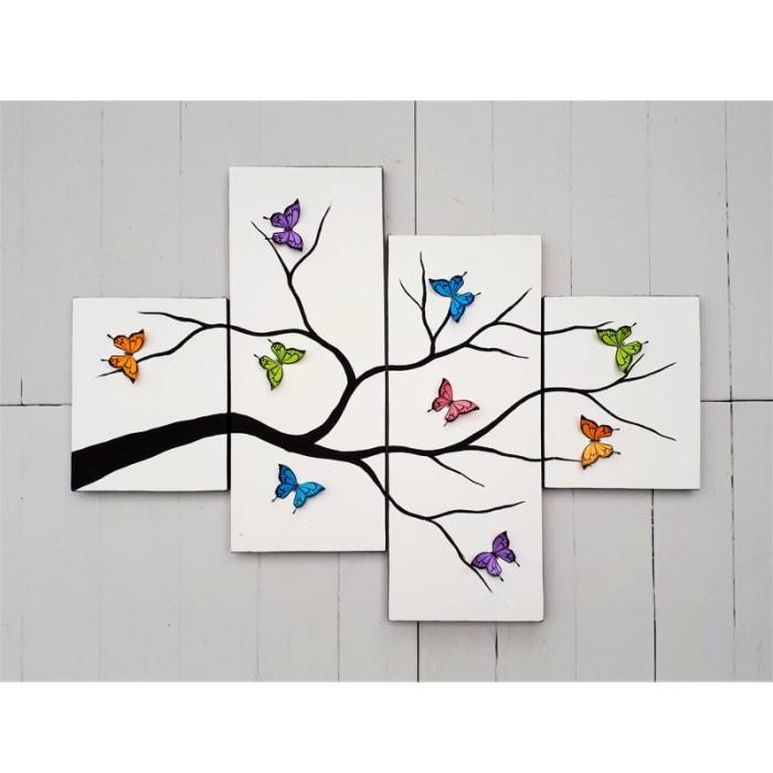 harga Hiasan dinding  - lukisan kupu 3d - fly 1 Tokopedia.com