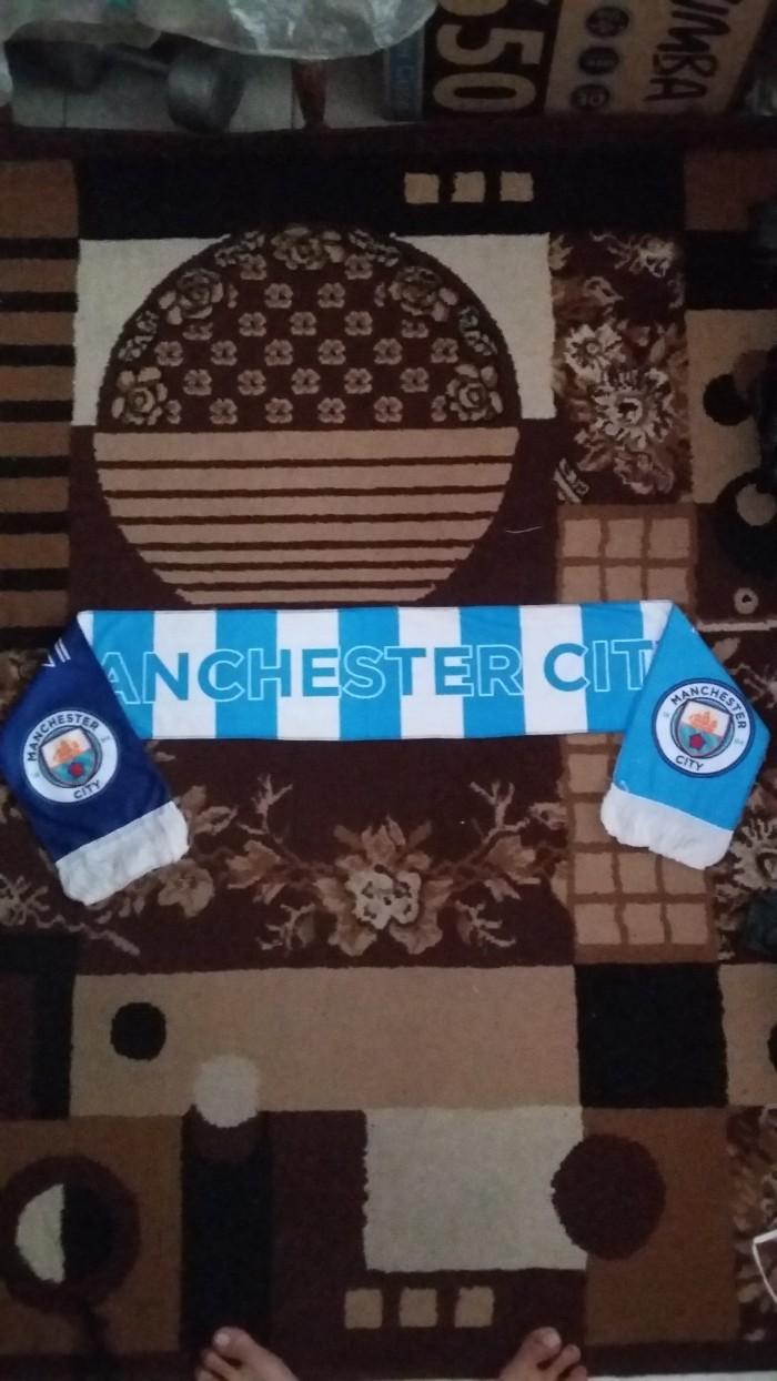 Jual Syal Printing Cek Harga Di Produk Ukm Bumn Sutra Super Manchester City