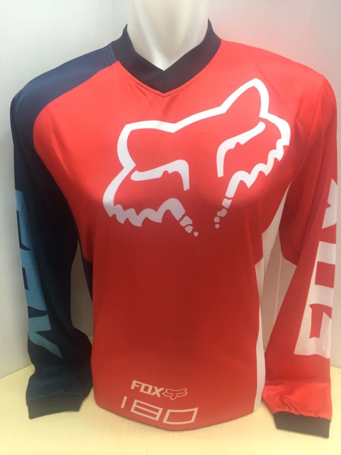 Jersey baju balap motor cross fox 647 .