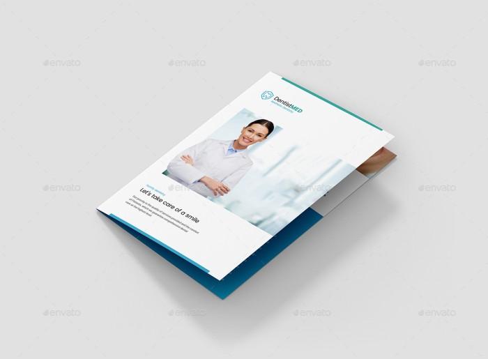 Jual Template Brosur Bi Fold Dokter Gigi BajolCool Shop Tokopedia