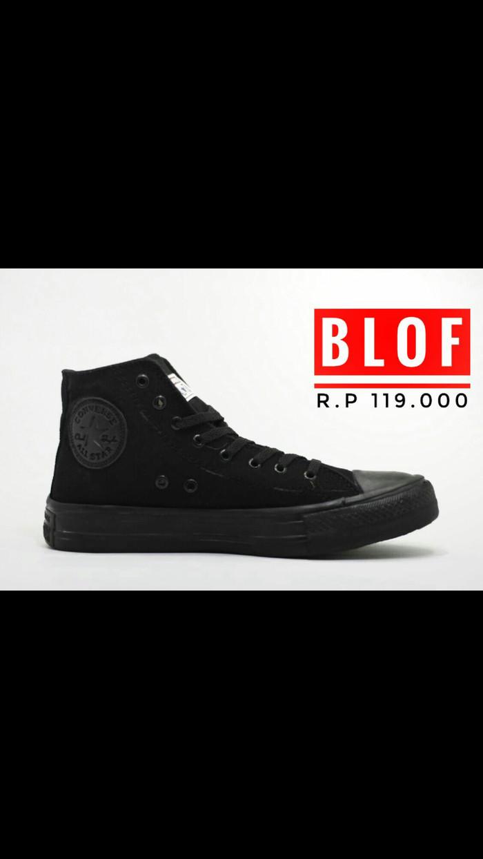 harga Converse full black high - blof store Tokopedia.com
