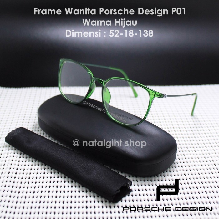 Frame kacamata wanita porsche design p01 premium mewah elegan hijau dd77cb3fc9