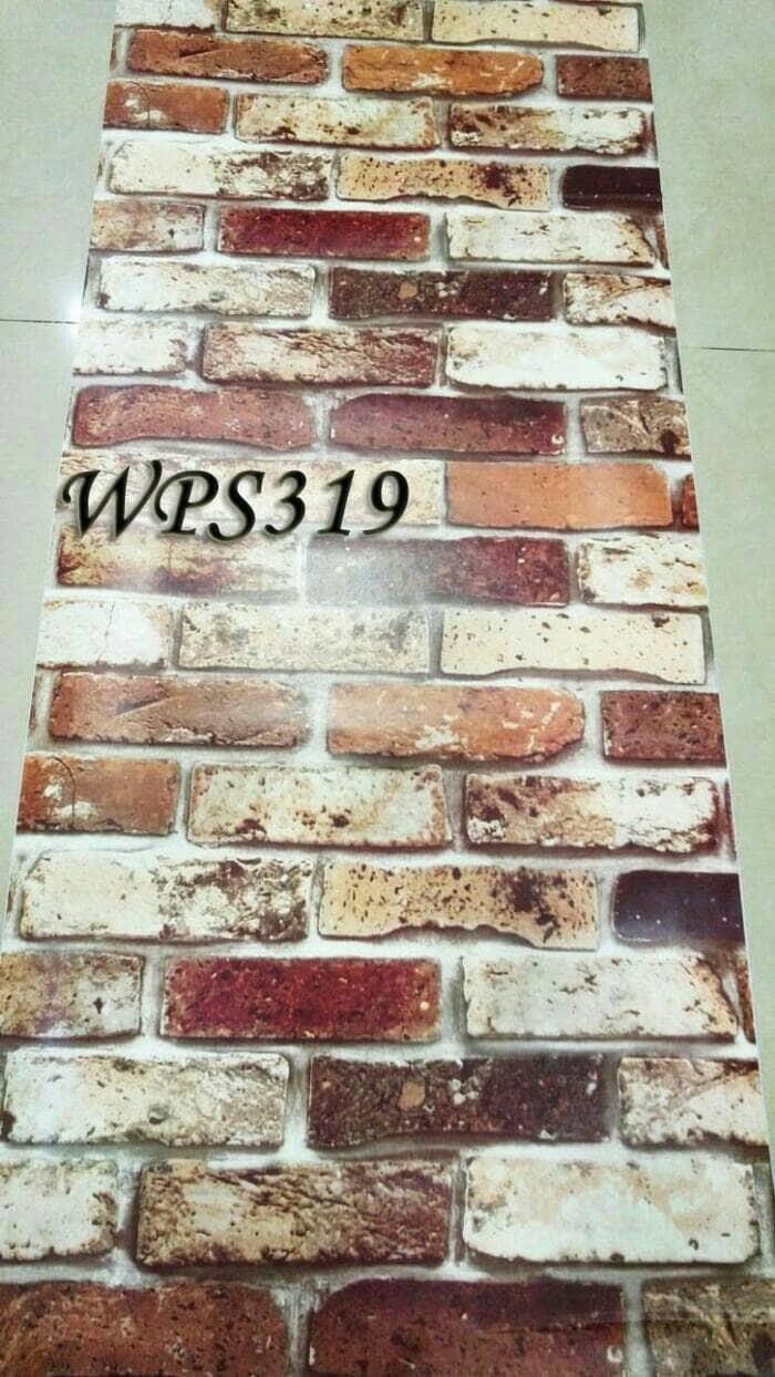 Jual Wallpaper Sticker Batu Bata Merah 3d Warna Rustic Vintage Kota Tangerang Selatan Efron Decor
