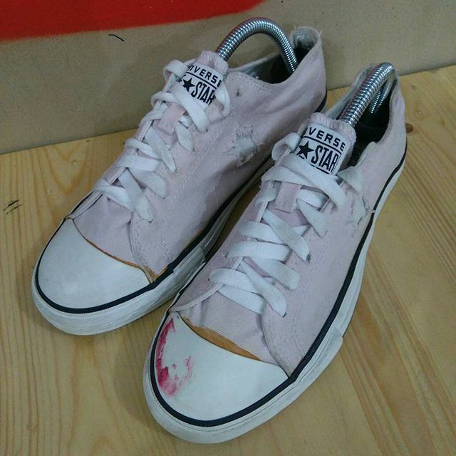 Jual Sepatu Converse One Star Low OX Canvas Pink Second Original ... fe73721be0