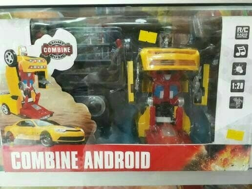 Jual Combine Android Mobil Remot Bisa Jadi Robot Transformer Shofa Acc Tokopedia