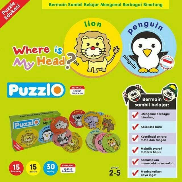 harga Puzzlo - where is my head? - Tokopedia.com