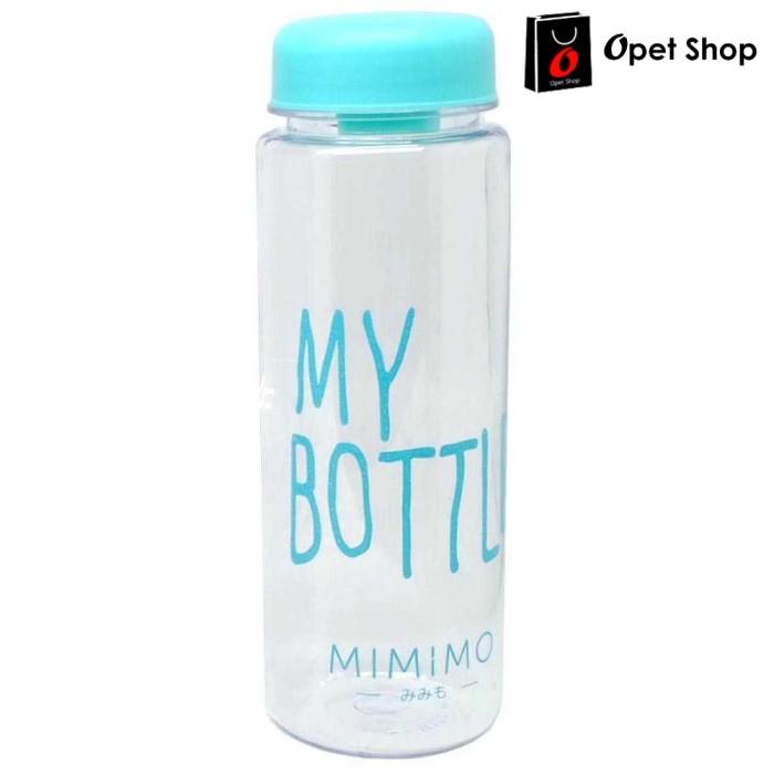 Botol Minum Plastik Bening Juice Lemon My Bottle 500ml - Biru