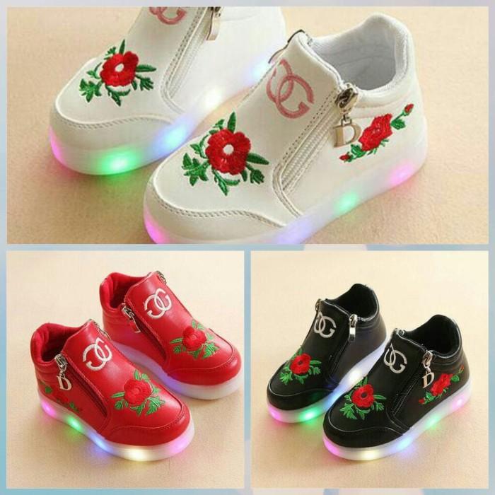 Sepatu anak flower gucci import murah lampu led. Sepatu anak flower gucci . d7a10ab436