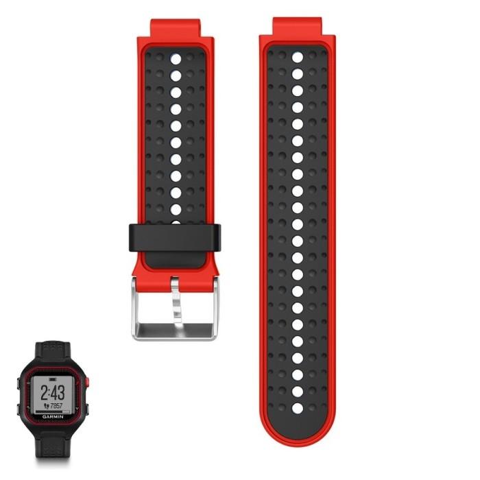 harga Strap band garmin forerunner 25 black red, tali jam fr 25 Tokopedia.com