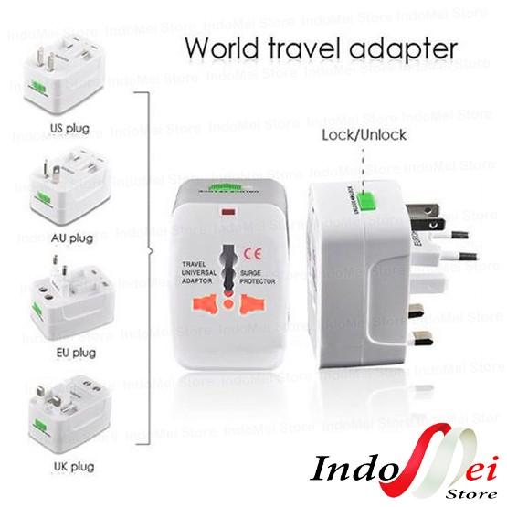 Foto Produk Universal Travel Adapter / Traveling Adaptor (EU + AU + UK + US Plug) dari Indomei Store