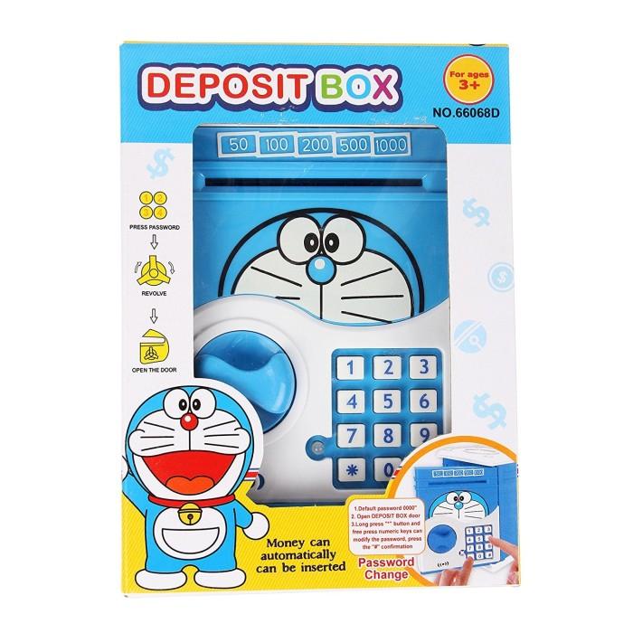 harga Mainan anak - deposit box doraemon brankas atm saving money celengan Tokopedia.com