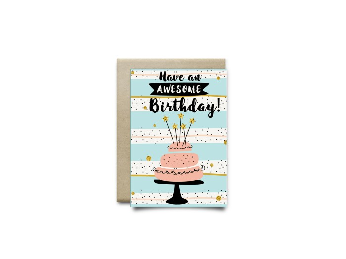 kartu ucapan ulang tahun harvest / sweet birthday - awesome bday