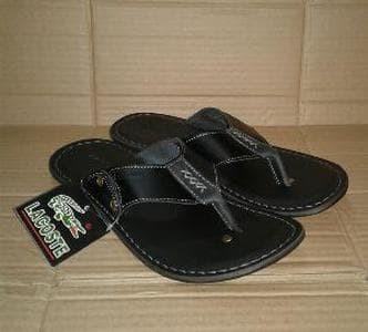 Jual sandal kulit pria LACOSTE jepit santai kondangan jalan2 Murah ... d50791fd7f