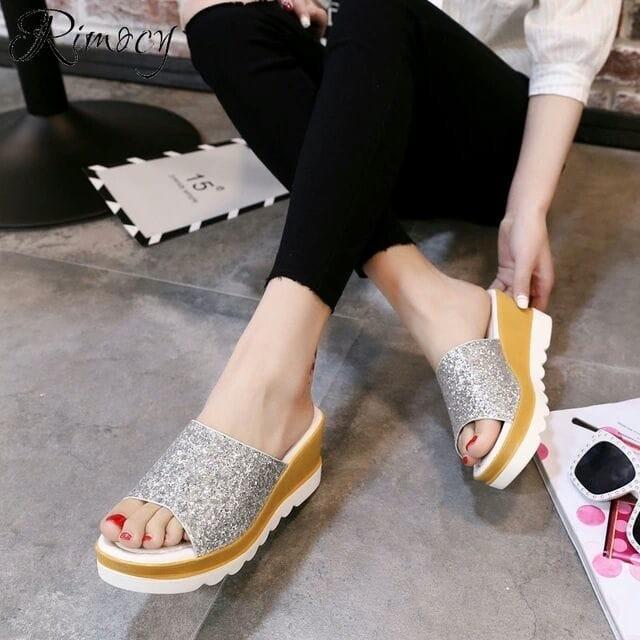 Sandal Teplek Wanita Flat Sandal Mi09 Silver - Daftar Harga Termurah ... ac782e4ce0