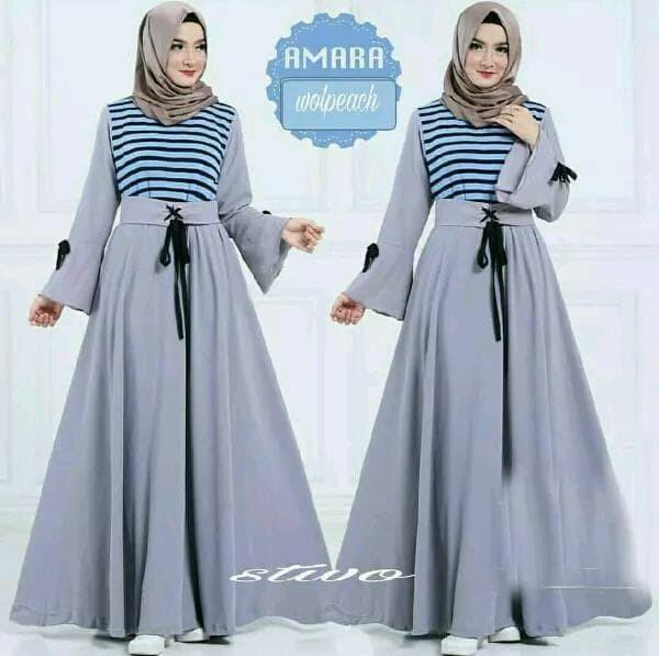 amara dress gamis maxi hijab wanita muslim