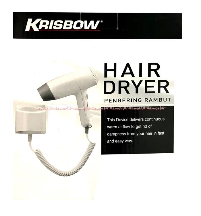 harga Krisbow hair dryer pengering menempel di dinding daya motor 1200 watt Tokopedia.com