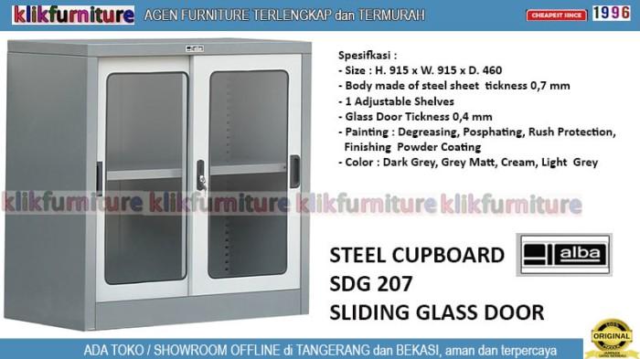 harga Sdg 207 alba lemari filing besi kantor pintu kaca sliding Tokopedia.com
