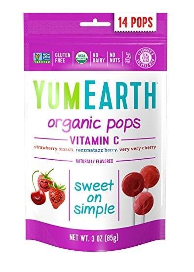 Yumearth organic - vitamin c pops/ permen lollypop/ makanan autis