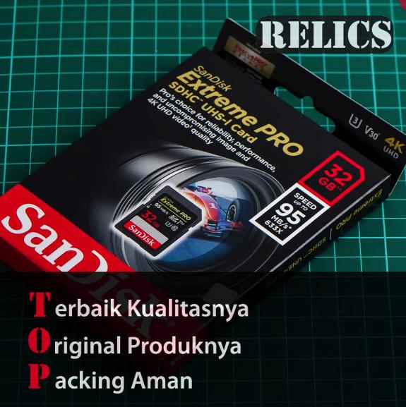 harga Memory for digital camera sandisk extreme pro 32gb 95mbps sd card 4k Tokopedia.com
